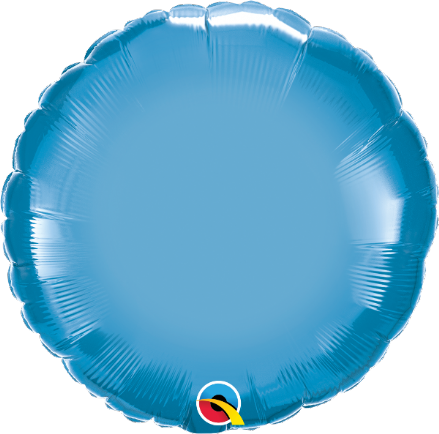 Round Shaped Blue Chrome Foil Helium Balloon